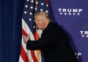 flag hug